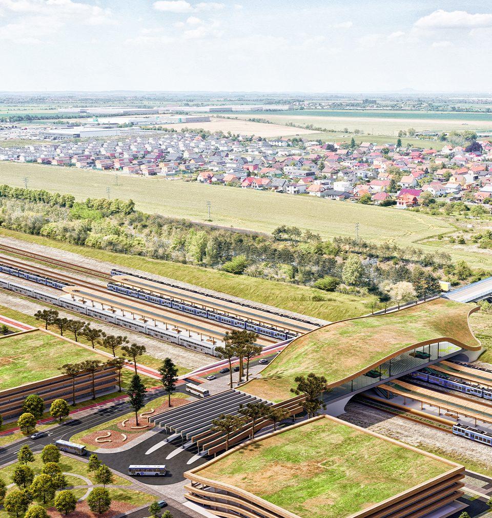 Navrhli jsme nový dopravní terminál Praha Východ