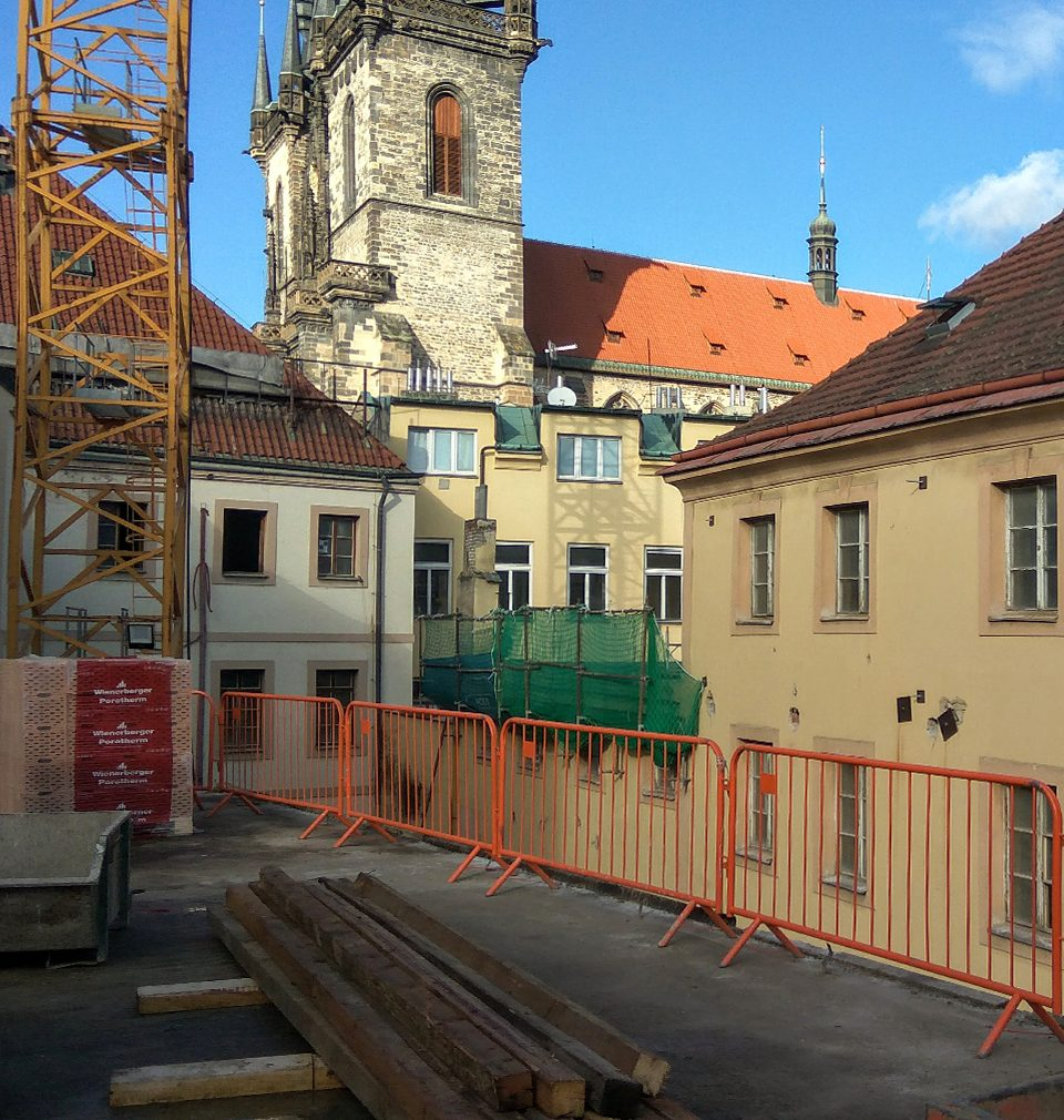 Construction of the most anticipated Prague hotel is underway in Old Town Square