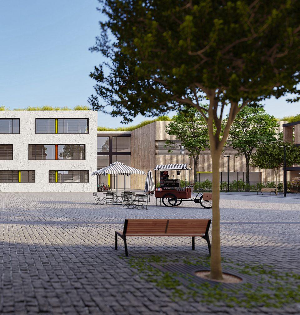 Navrhli jsme citlivou revitalizace a doplnění centra obce Bašť