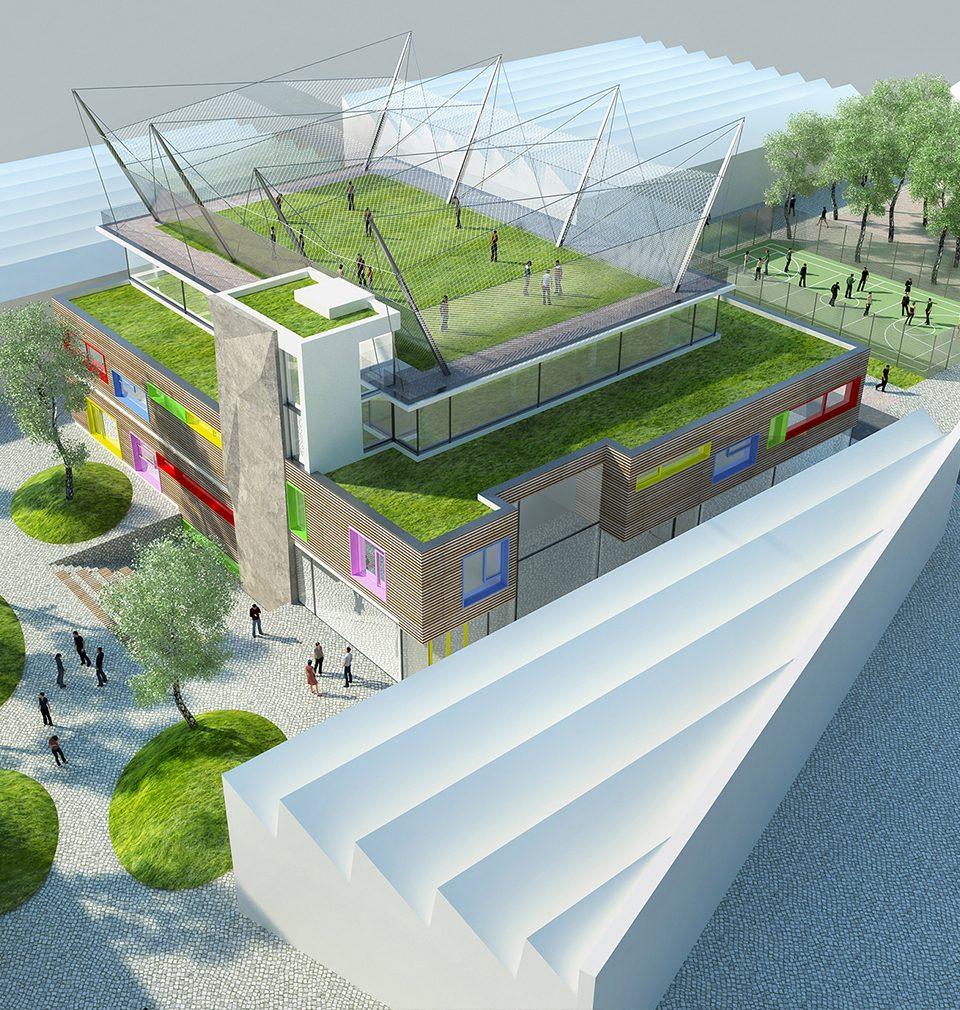 Výstavba Domu dětí a mládeže v Ústí nad Orlicí podle našeho návrhu se přesunula do interiéru