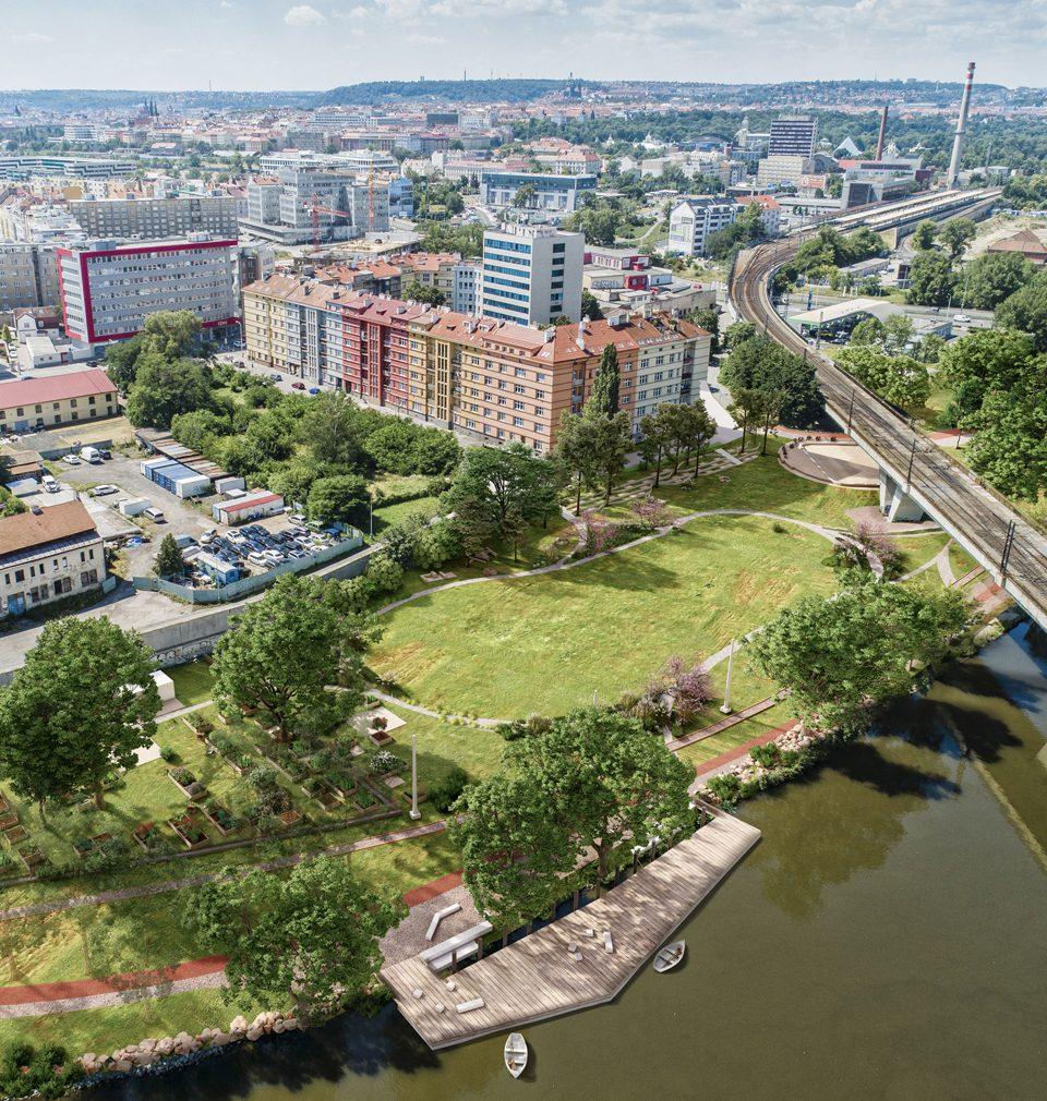 Zastavte se u radnice Prahy 7, kde se můžete seznámit s návrhy nového holešovického parku
