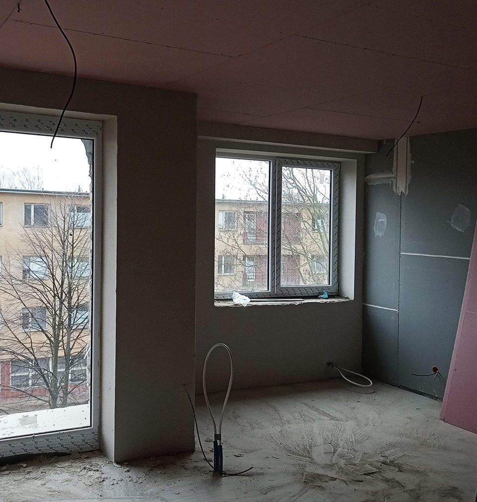 Ze dvou budov středoškolského internátu v Ostravě vzniká zdravé bydlení podle našeho návrhu