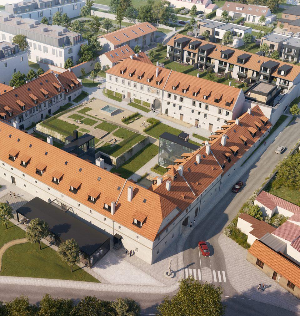 Earch.cz píše: revitalizace Jinonického dvora, pod kterou je podepsaný atelier AU plan, nabídne moderní bydlení s dotekem staleté historie