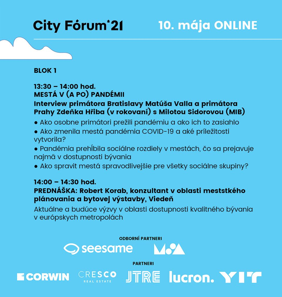 We invite you to the second year of the Bratislava City Forum conference