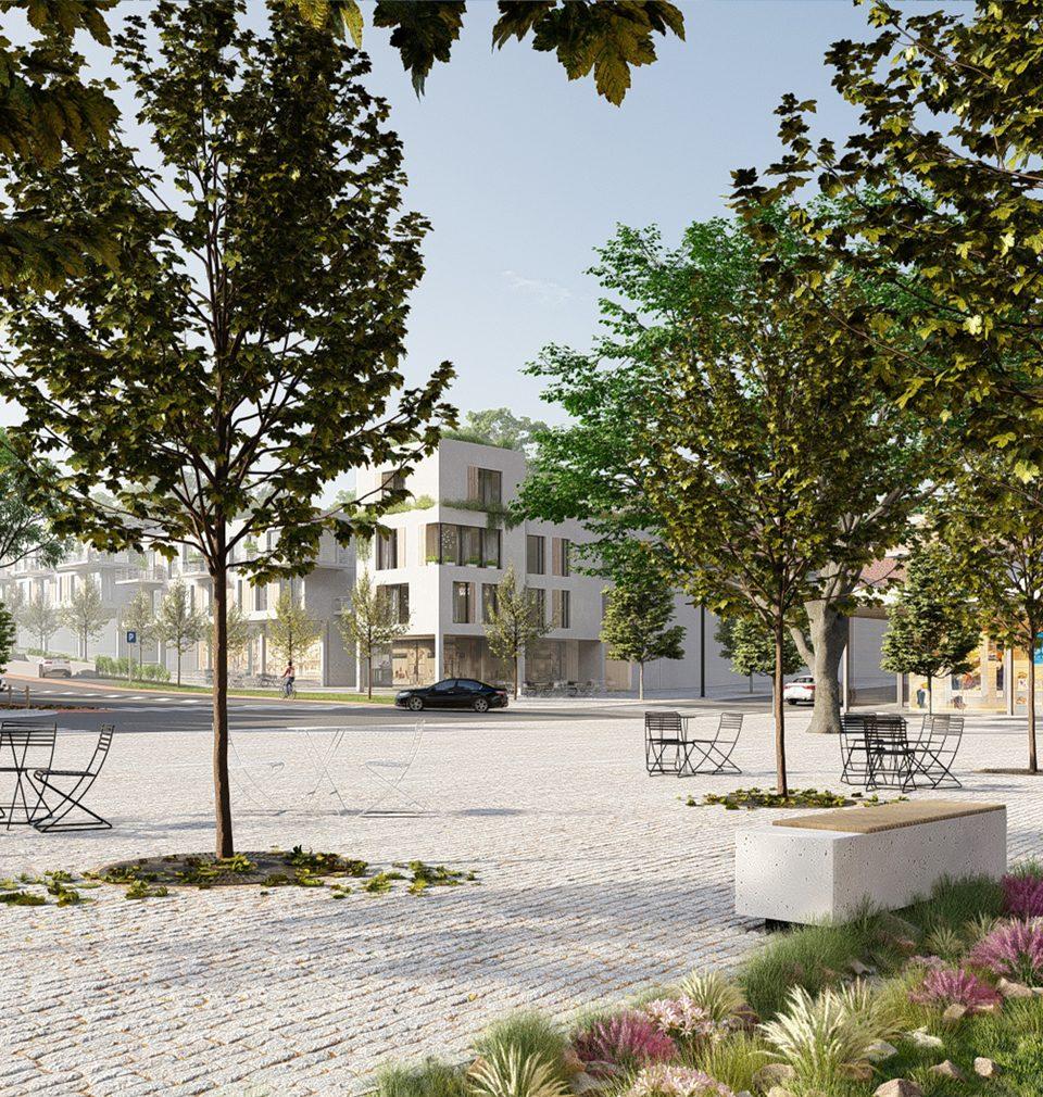 Návrh citlivé revitalizace centra lokality Brno-Líšeň nám přinesl druhé místo v architektonicko-urbanistické soutěži