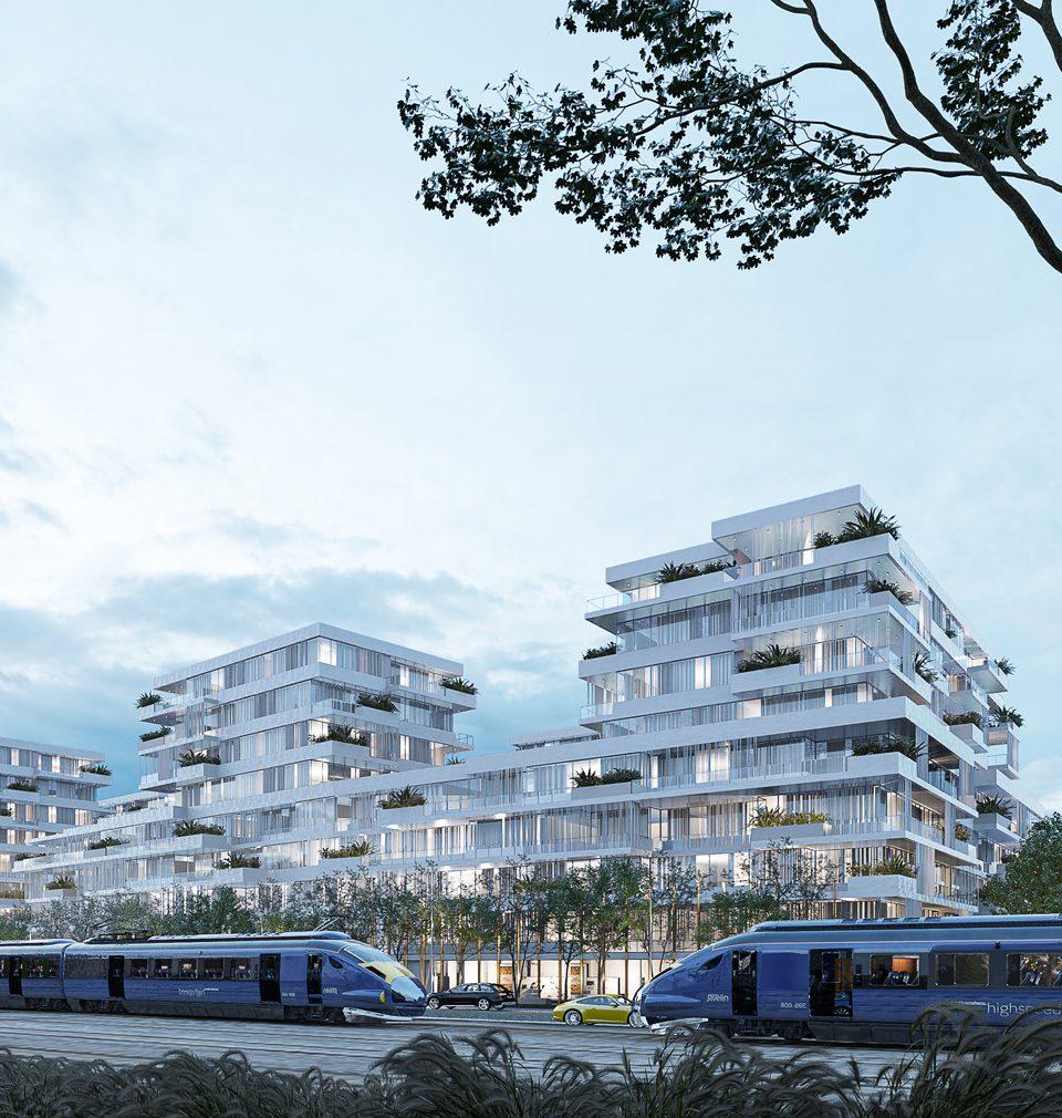 Mezi rychlostní komunikací a železniční tratí jsme navrhli sympatickou rezidenční čtvrť