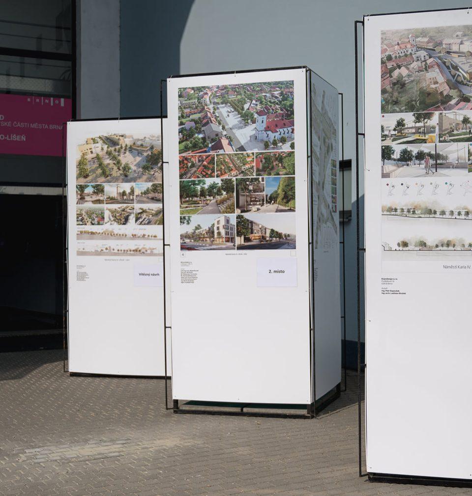 Líšňáky i Vás mimobrněnské, zveme na výstavu oceněných návrhů revitalizace náměstí Karla IV.  v Brně-Líšni