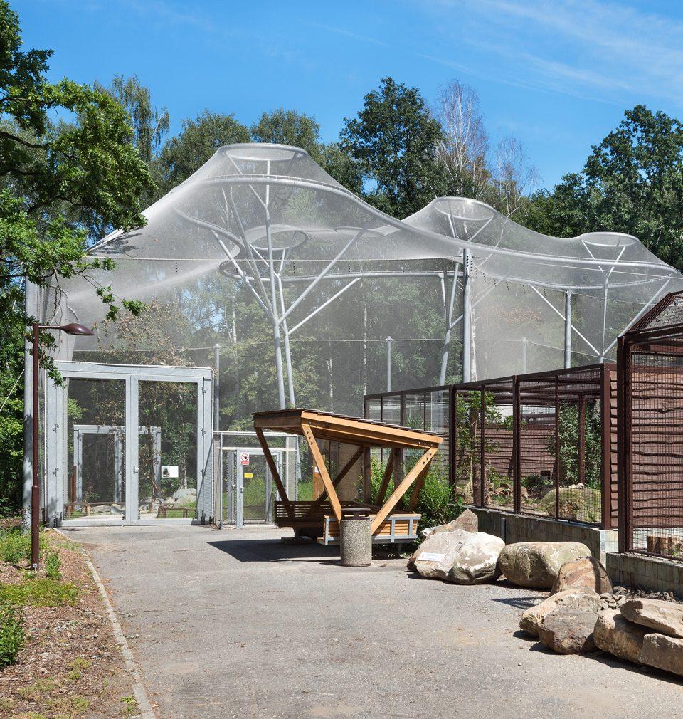 Voliéra La Pampa podle našeho návrhu v ostravské zoo je nominovaná do soutěže Stavba roku 2021
