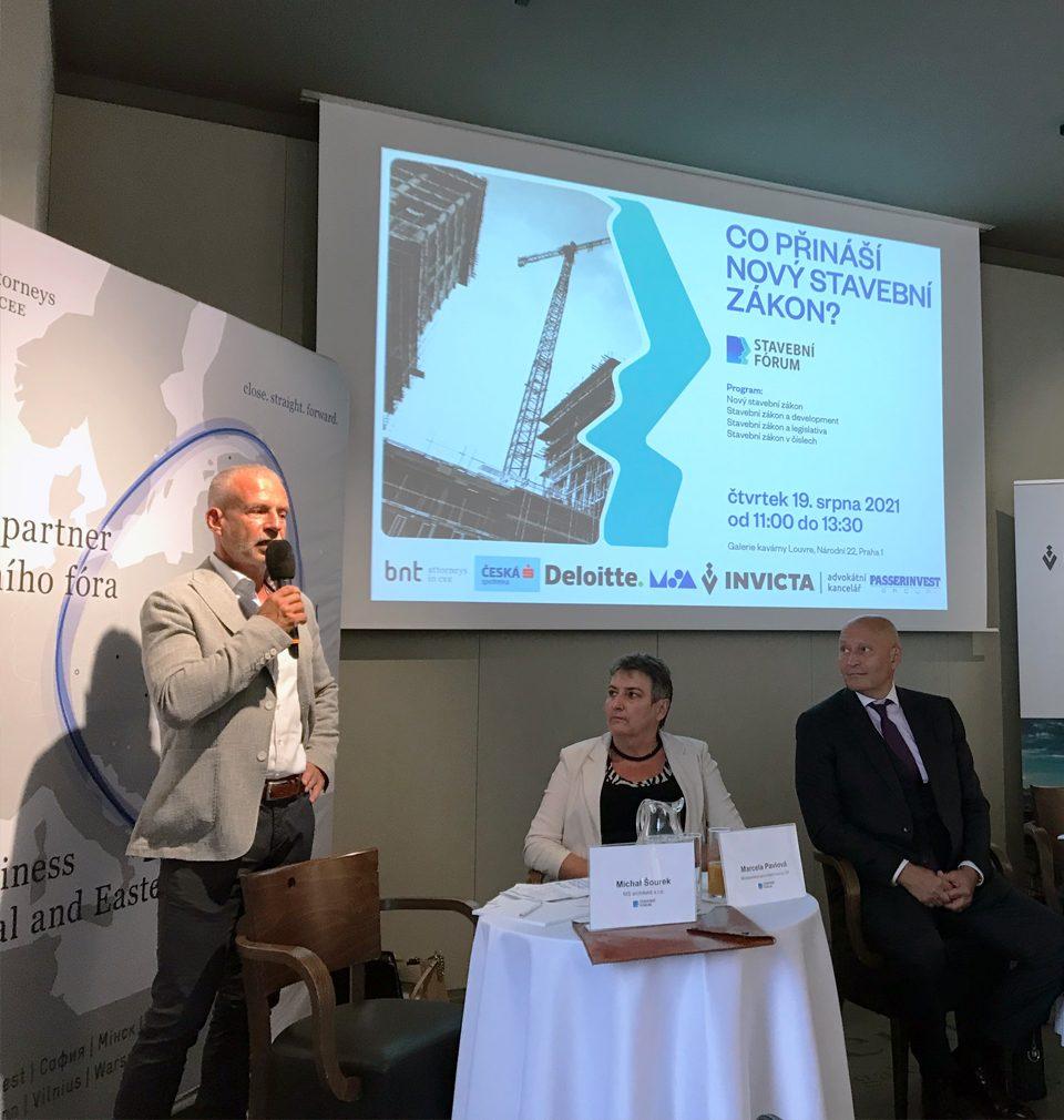 MS architekti jsou hlavním partnerem diskusního setkání Stavebního fóra s názvem Co přináší nový Stavební zákon