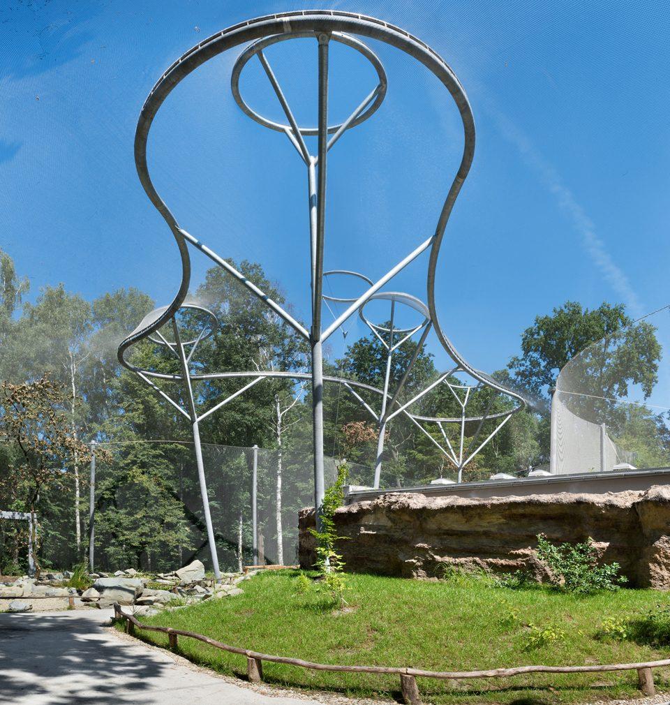 Voliéra La Pampa podle našeho návrhu v ostravské zoo usiluje o titul Stavba roku 2021