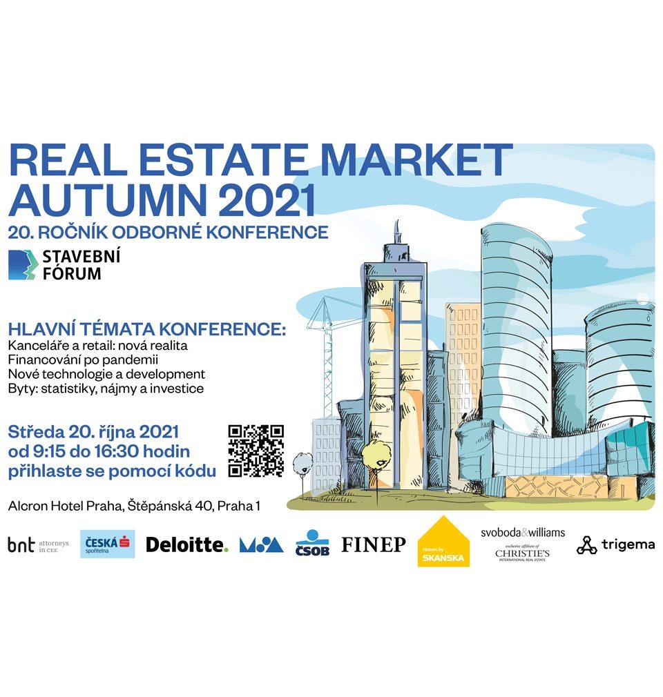 MS architekti jsou partnery 20. ročníku konference Real Estate Market Autumn 2021