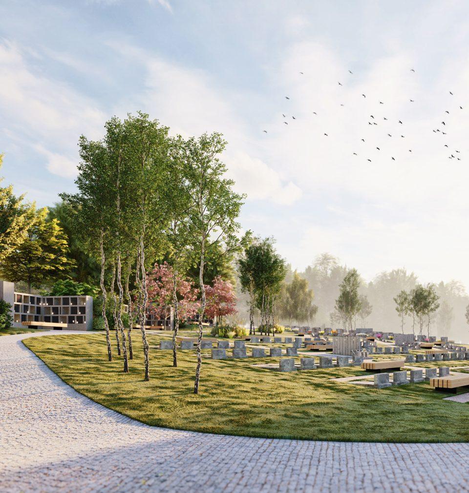 Navrhli jsme důstojné místo posledního odpočinku a veřejný prostor pietního parku v Černošicích u Prahy