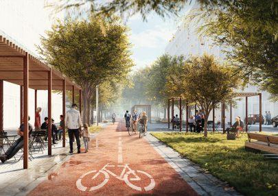 Public space Smíchov City